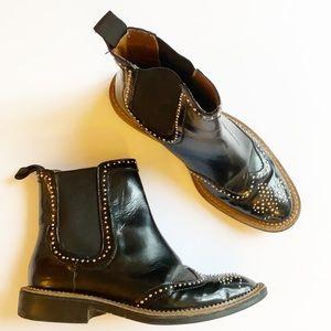 ZARA | Cowboy Western Ankle Moto Boots 6